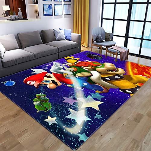 W-life Teppich Kinder 3D-Vorleger Cartoon Moderne Wohnzimmer Schlafzimmer Hauptdekoration Super Mario-Teppichboden-Pad Kinderzimmer Anti-Rutsch-Spiel-Matte (Color : 11, Size : 120 * 160cm)