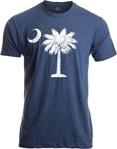 South Carolina Flag   Palmetto Moon Carolinian SC Charleston Men Women T-Shirt-(Adult,M) Vintage Blue