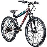 Jugendfahrrad 26 Zoll Mountainbike Fahrrad 26' Geroni Magnum Hardtai MTB Jugend (schwarz/rot/blau, 38 cm)
