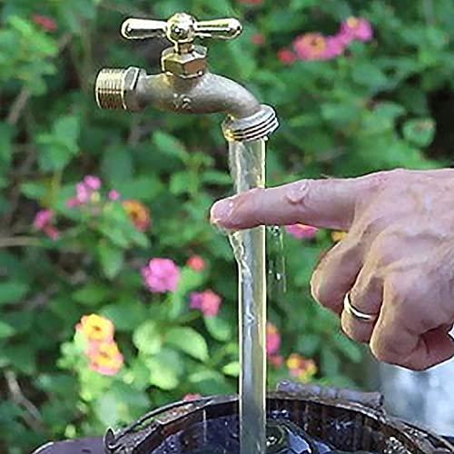 ZHIRCEKE Fuente de riego Que Fluye, Fuente de Grifo Invisible, Fuente de Grifo Flotante DIY Yard Decoración de Arte