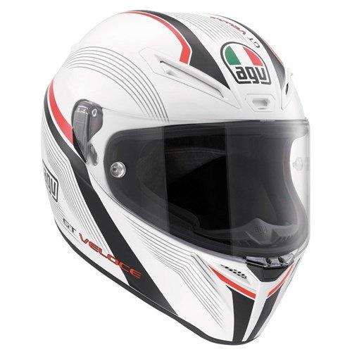 AGV Gt Veloce Aspide bianco/nero/rosso casco