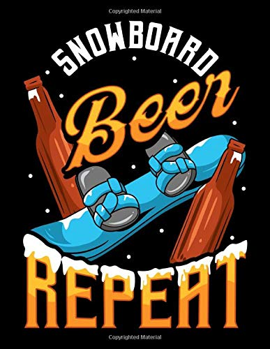 Snowboard Beer Repeat: Funny Snowboard Beer Repeat Snowboarding Blank Comic Book Notebook - Kid's Storyboarding (120 Comic Template Pages, 8.5