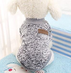Vêtement qui tient chaud pour les petits chiens en hiver, chandail de coton, bien chaude et toute douce, vêtement indispensable pour un hiver bien au chaud