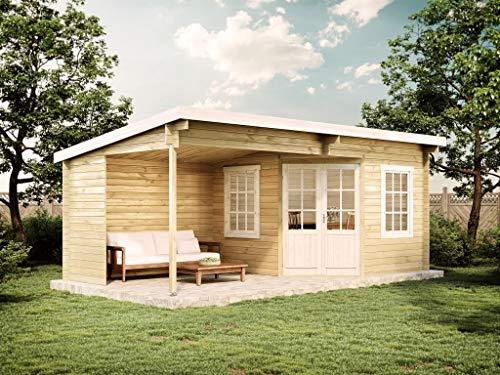 Alpholz Gartenhaus Carl aus Massiv-Holz...