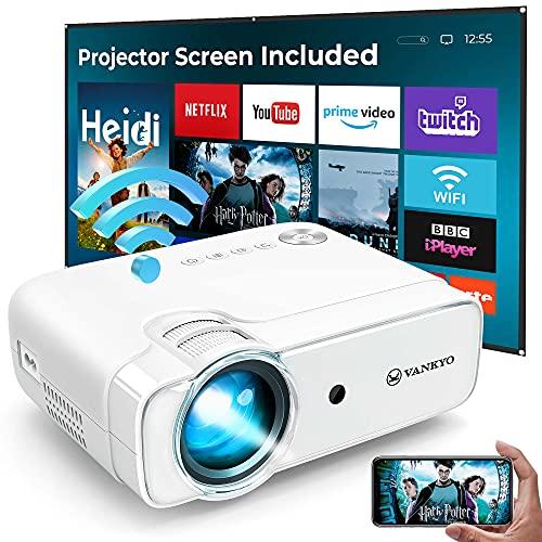 VANKYO L430W WiFi Mini Projector w/ 100 Inch Projector Screen, 6500 Lumens...