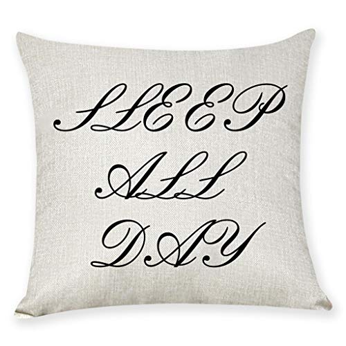 Arystk Home Cushion Cover Dance All Night Sleep All Day Throw Pillowcase Pillow Covers