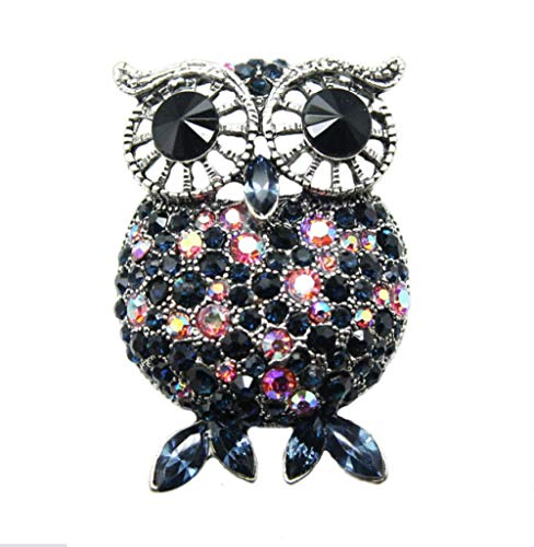 N\A owl Brooches for Women brooch with Rhinestone Gifts for Ladies Birthday Jewellery Corsage (1)