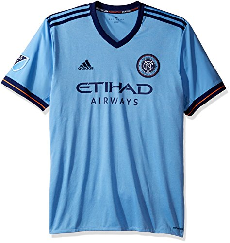 MLS New York City FC Adult Men Replica Wordmark s/jersey,Large,Light Blue