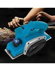 Berkalash Elektrische schaaf, 800 W handheld schaaf vliegtuig elektrische handschaaf Home DIY Power Tools Kit, schaafdiepte 1 mm