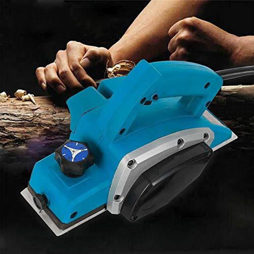 Berkalash Elektrohobel, 800W Handheld Hobel Flugzeug Elektrisch Handhobel Startseite DIY Power Tools Kit, Hobeltiefe 1mm