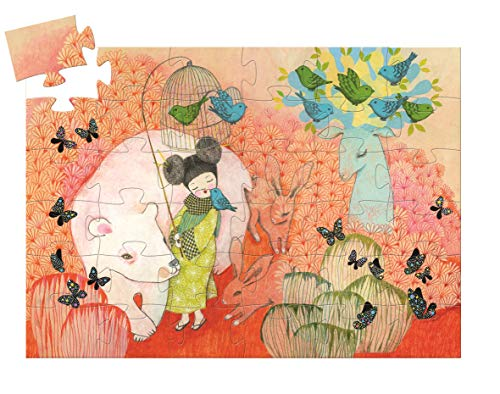Djeco DJ07236 Formen Puzzle Silhouette-Puzzle Kokeishi