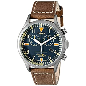 Timex Unisex Waterbury–Reloj cronógrafo con Correa de Piel