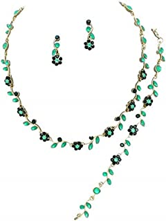 emerald leaf necklace
