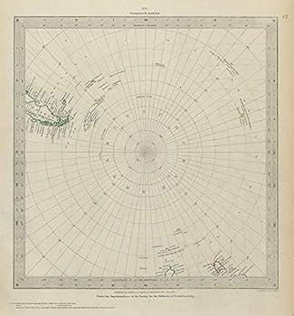Southern LATITUDES Pole Antarctic Patagonia Tasmania SDUK - 1844 - Old map - Antique map - Vintage map - Printed maps of World