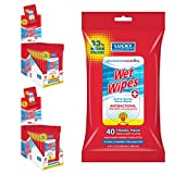 Lucky Super Soft Protection Wipes For Hands, Alcohol-free Hand Wipes With Active Ingredient For Effective Cleaning On The Go, Enriched With Vitamin E (12 Packs Of 40 Wet Wipes Each, Total 480 Sheets)