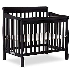 Dream On Me Aden 4-in-1 Convertible Mini Crib, Black