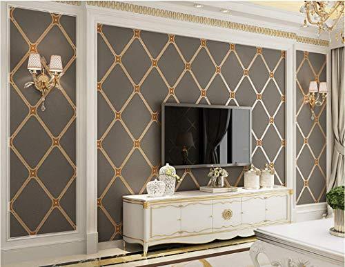 Tapete Diamantgitter 3D Braun Vliestapete Küche Schlafzimmer Wohnzimmer Tv Background Dekoration