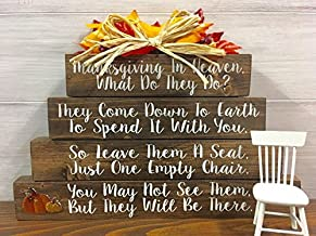 Christmas In Heaven - (WITH BASE AND CHAIR) - Thanksgiving In Heaven - Memorial Gifts - Sympathy - Sympathy Gifts - Loss Of A Loved One - Memorial - Thanksgiving Decorations - Thanksgiving Decor