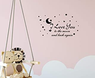I Love You to The Moon and Back Again Wall Photo Wall Decal Removable Wall Sticker for Home Decor