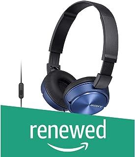 (Renewed) Sony MDR-ZX310AP Sound Monitoring Headphones (Blue)