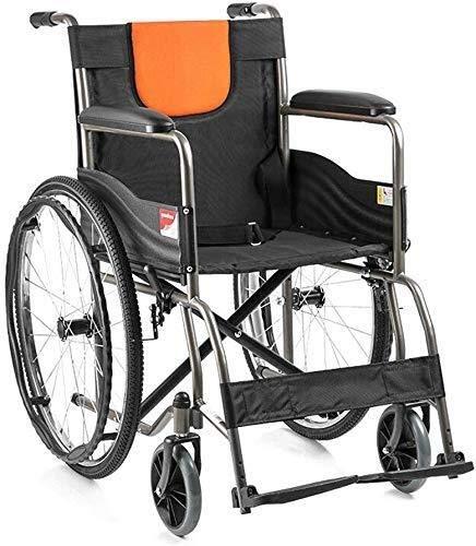 N/Z Mobiliario para el hogar Silla de Ruedas Silla de Ruedas Plegable Ligera Autopropulsada Aleación de Aluminio Transporte Ligero Viaje Comfort Scooter con Bolsa de Almacenamiento Pedal Ajustable