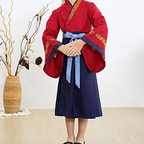 KRILY Vestido Princesa Cosplay Disfraz Fiesta De Halloween para Nios Vestido de Equipo de Cosplay del Partido del Traje de Belleza herona China 2-14Years,110