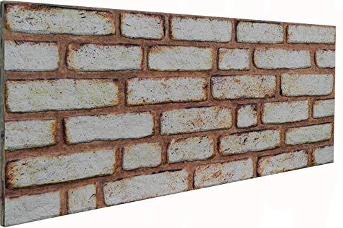 3D Wandverkleidung Wandpaneel aus Styropor in Steinoptik für Wohnzimmer, Küche, Terrasse oder Schlafzimmer - Ziegeleffekt - 100 cm x 50 cm x 2 cm, Typ 155