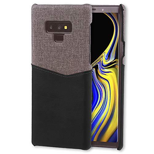 Lilware Card Wallet Plástico Funda para Samsung Galaxy Note 9. Textura de Tela y de PU Cuero Protectora Carcasa con Tarjeta de Crédito/Ranura para Titular. Negro