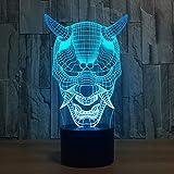 TYWFIOAV Veilleuse LED 3D sans fil Veilleuse Cactus Décoration 3D Lumière Luminaria De Mesa USB LED Interrupteur 7 Couleurs Lampe de Table