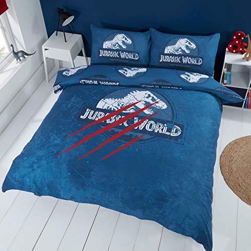 Jurassic World Claws UK Double/US Full Duvet Cover and Pillowcase Set