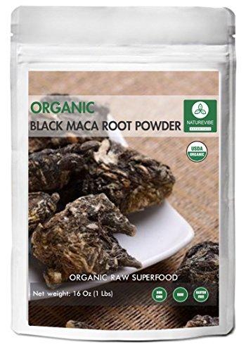 Naturevibe Botanicals Black Maca Powder 1lb - Lepidium meyenii | Raw, Gluten-Free & Non-GMO