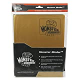 Monster Binder - 9 Pocket Matte Gold Album - Holds 160 Yugioh, Magic, and Pokemon Cards