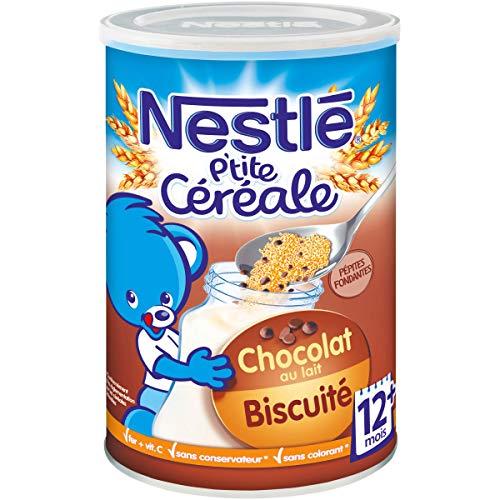 Nestlé Bébé P'tite Céréale Chocolat Biscuité - Céréales déshydratées dès 12 mois - Boîte de 400g