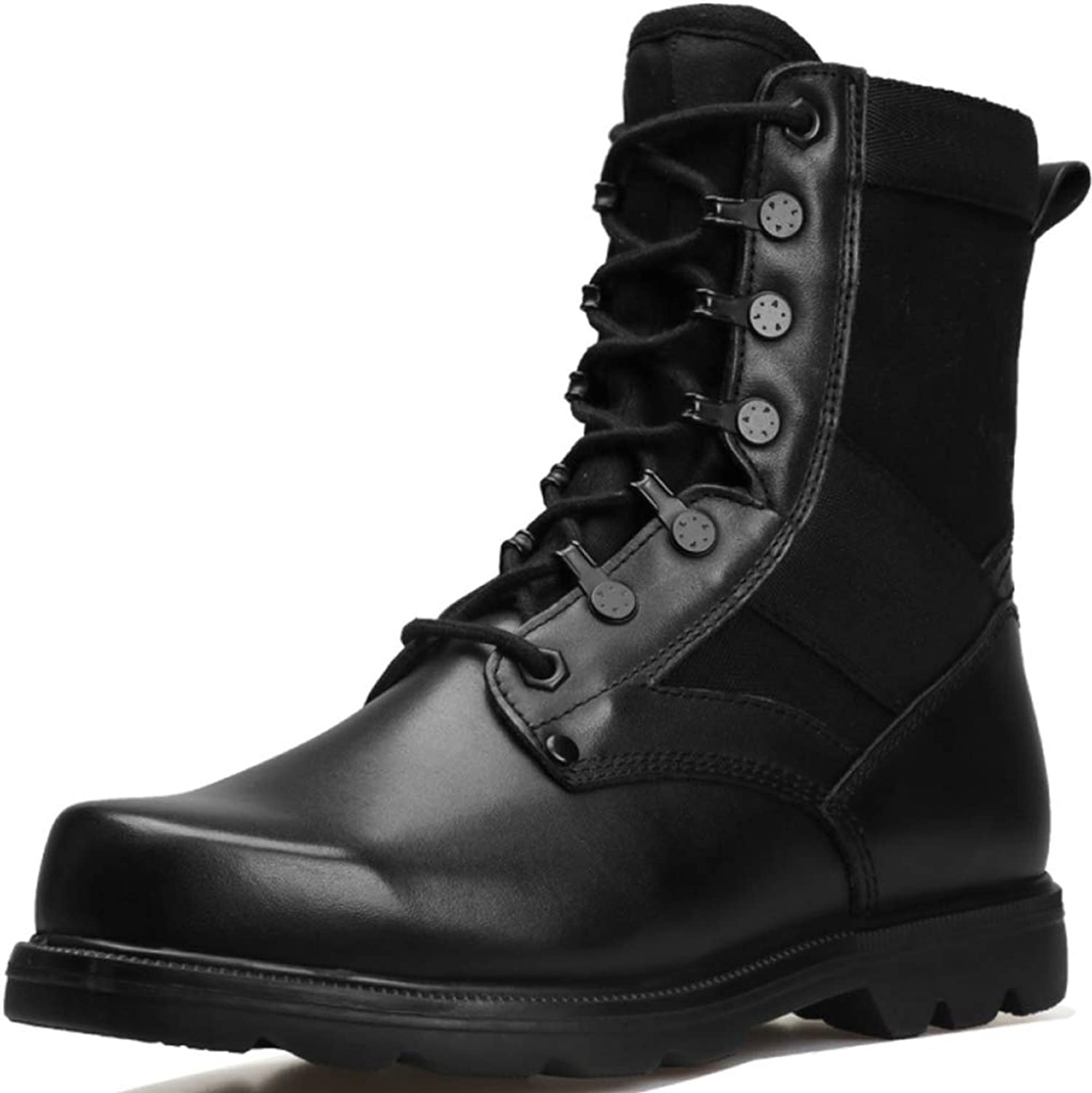 Special Forces Combat Army Boots Mens Desert Military Police Armed Tactics shoes Outdoor Hiking Mountaineering High Top Leather Footwear
