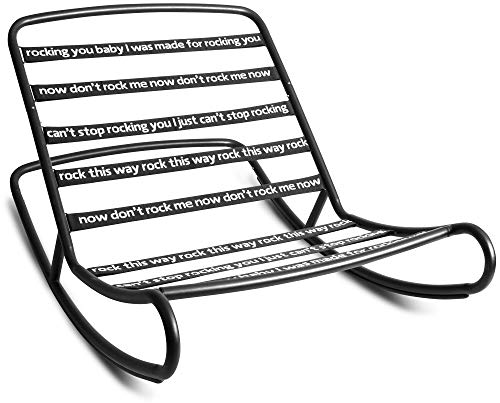 Fatboy Rock 'n Roll Beanbag Chair Rocker, Black