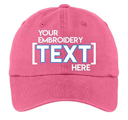 Custom Embroidered Ladies Garment Washed Hat - Personalized Monogrammed Cap