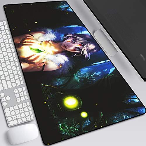 CSQHCZS-SBD muismat, vergroting anime toetsenbord tafel, verdikte mat tafel waterdicht voor games, natuurlijk rubber, antislip toetsenbord, randen klaar A++ + + + +