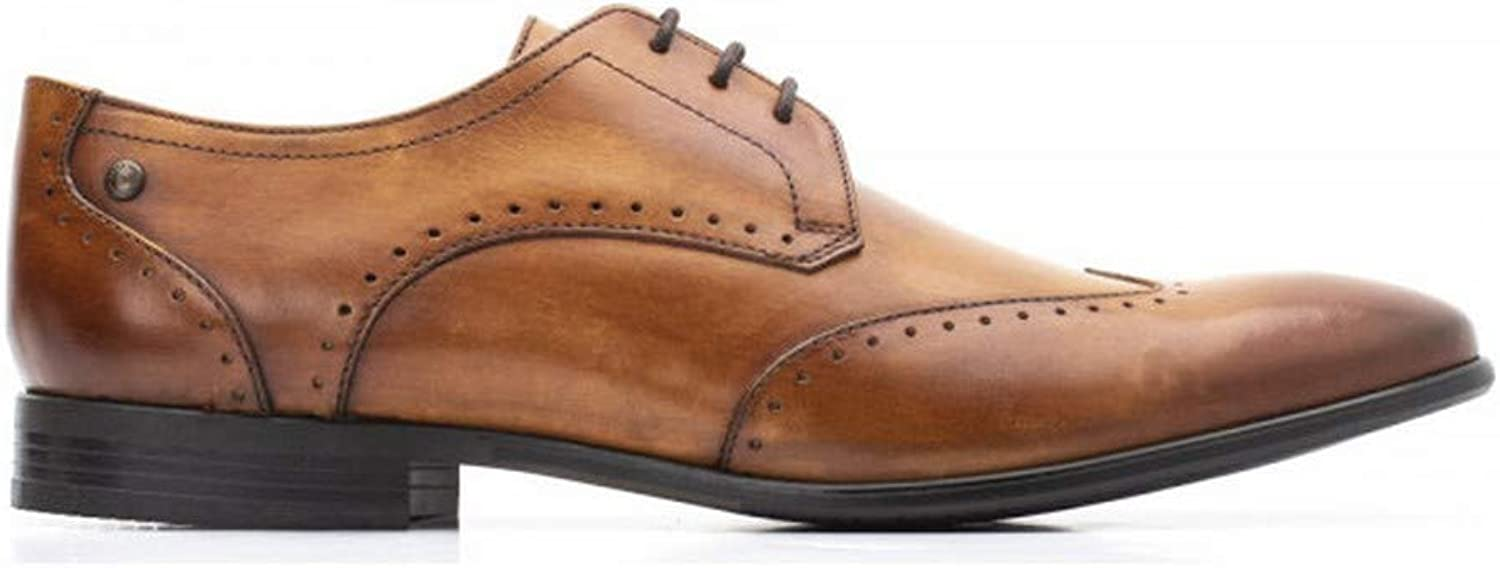 Base London Mens Buckingham Washed Tan Smart Leather shoes