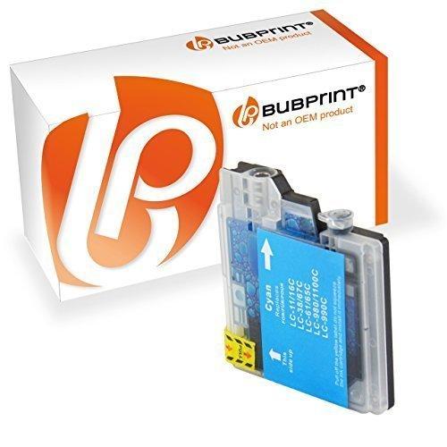 Bubprint Druckerpatrone kompatibel für Brother LC-1100 LC-980 für DCP-145C DCP-195C DCP-375CW DCP-585CW DCP-J715W MFC-490CW MFC-5890CN MFC-6490CW Cyan