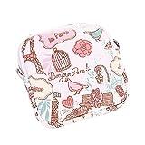 Ni_ka Porte-Monnaie Petit Pochette en Coton Sac Rangement pour Serviettes Hygiéniques Mignonne Motif Impression de Fleurs Sac Organisateur Voyage Sac Pochette