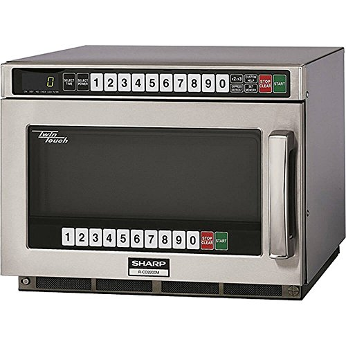 "Sharp R-CD2200M - Commercial Microwave Oven, TwinTouch, 2200W, S/S, 17-1/2""W x 22-9/16""H x 13-5/8""D"