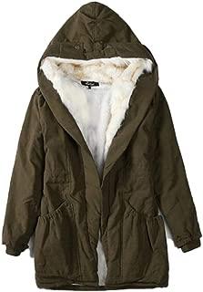 Womens Winter Warm Parka Jacket Faux Fur Fleece Lined Outdoor Hoodied Coat