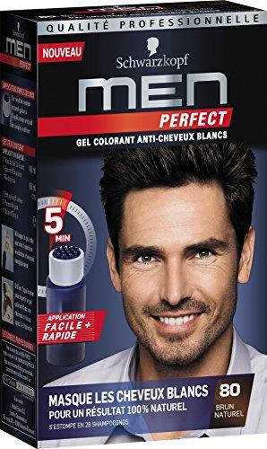 Schwarzkopf - Men Perfect - Gel Colorant Anti-Cheveux Blancs - Brun Naturel 80