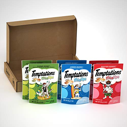 TEMPTATIONS MIXUPS Crunchy and Soft Cat Treats Variety Pack in Backyard Cookout, Surfer