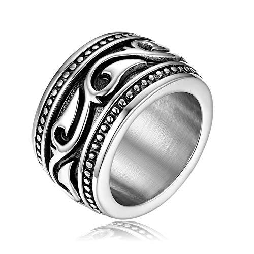 OIDEA Anello Celtico Irlandese Fidanzamento Matrimonio Nuziale Acciaio Inossidabile Uomo Argento Regalo Perfetto