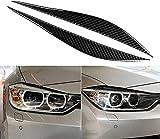 Cubierta de Cejas para Faros Delanteros de Coche para BMW F30 320i 325i 316i 3 Series-Negro