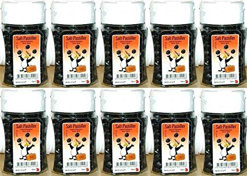 10 x PINGVIN SALTPASTILLER SALZ PASTILLEN 310g LAKRITZ Incl. Goodie von Flensburger Handel