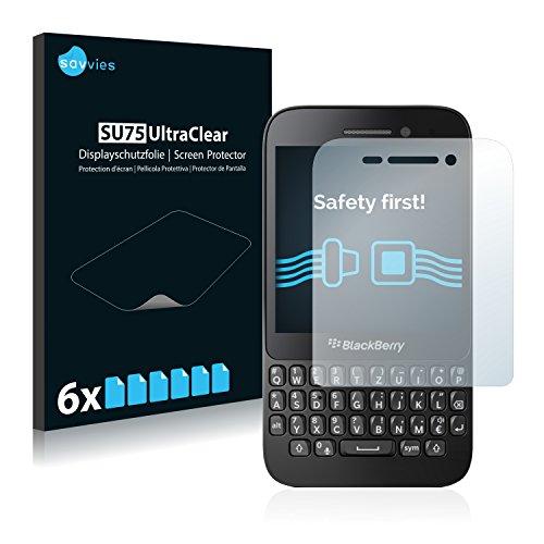Savvies 6X Schutzfolie kompatibel mit BlackBerry Q5 Bildschirmschutz-Folie Ultra-transparent