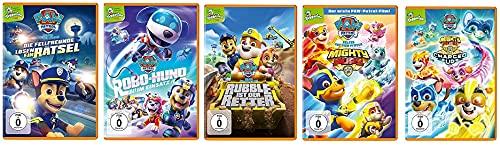 Paw Patrol - DVD 21 - 25 (Fellfreunde/Robo-Hund/Rubble Retter/Mighty Pups-Super Paws/Mighty Pups-Charged up) im Set - Deutsche Originalware [5 DVDs]