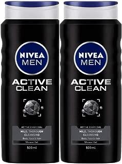Nivea Active Clean Shower Gel, 500g, 500 g (Pack of 2)